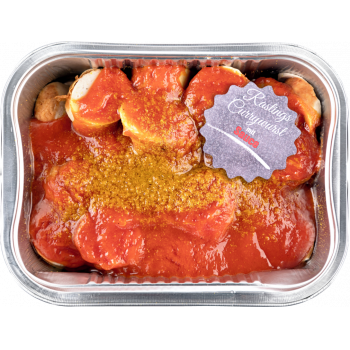 Rasting - Currywurst mit Sauce