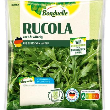 Frischer Rucola oder Feldsalat