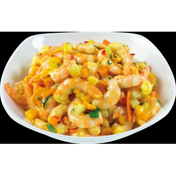 Garnelen-Kürbis-Salat