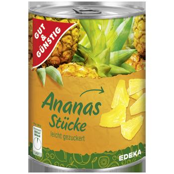 GUT & GÜNSTIG - Ananas Stücke