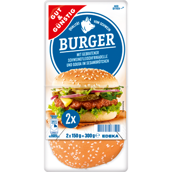 Cheese-, Chicken- oder Beef-Burger