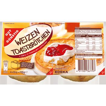 GUT & GÜNSTIG - Weizen Toastbrötchen