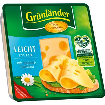 Grünländer Käse in Scheiben