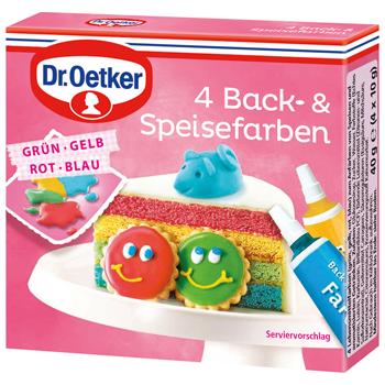 Dr. Oetker 4 Back & Speisefarben