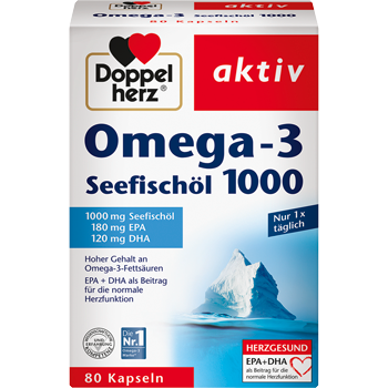 Doppelherz aktiv Omega-3 Seefischöl 1000