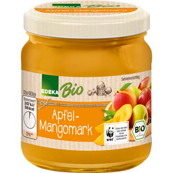 Apfel-Mangomark, Apfel-Bananenmark oder Apfelmark