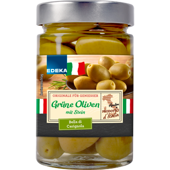 EDEKA Italia - Grüne Oliven, Zwiebeln oder halbgetrocknete Tomaten
