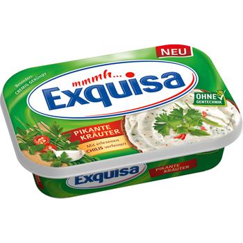 Exquisa Frischkäse oder Scheiben aus Frischkäse