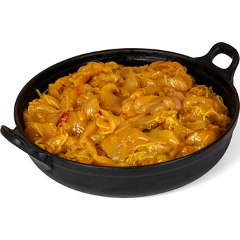 Hähnchenfleischpfanne Curry-Kokos