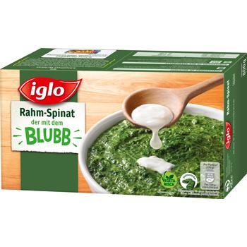 iglo Rahm-Spinat, Blatt-Spinat, Würz-Spinat oder Blubb Sticks