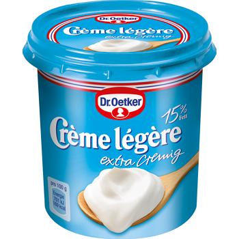 Dr. Oetker Crème légère oder Crème frâiche
