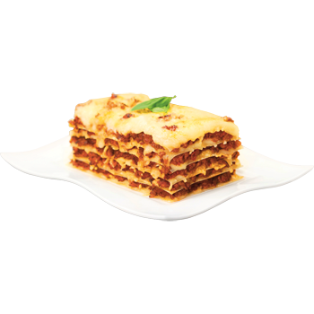 Frische Lasagne Bolognese oder Cannelloni