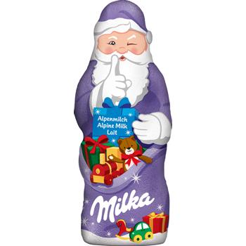 Milka Weihnachtsmann oder Schneemann