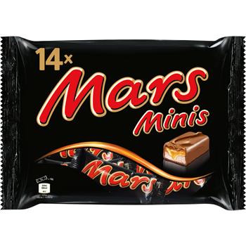 Snickers, Mars, Twix, Bounty oder Milky Way Minis
