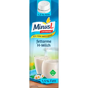 MinusL fettarme H-Milch oder H-Vollmilch