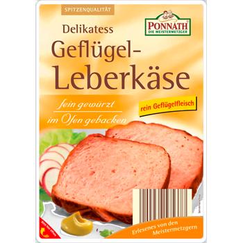 Ponnath - Original Bayerischer Leberkäse oder Delikatess Geflügel-Leberkäse