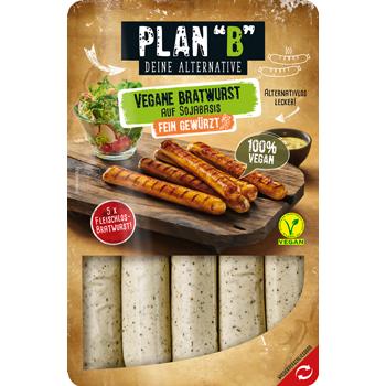 "Plan ""B"" Vegane Bratwurst auf Sojabasis"