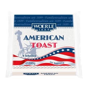 Woerle Schmelzkäse American Toast oder XXL Burger Scheiben