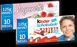 Kinder Schokolade oder Yogurette