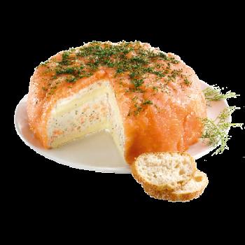 Käse-Lachs-Torte