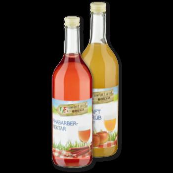 meinLand - Rhabarber-Nektar oder Apfelsaft
