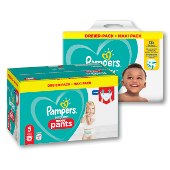 Pampers Baby-Dry Windeln, Pants oder Premium Protection